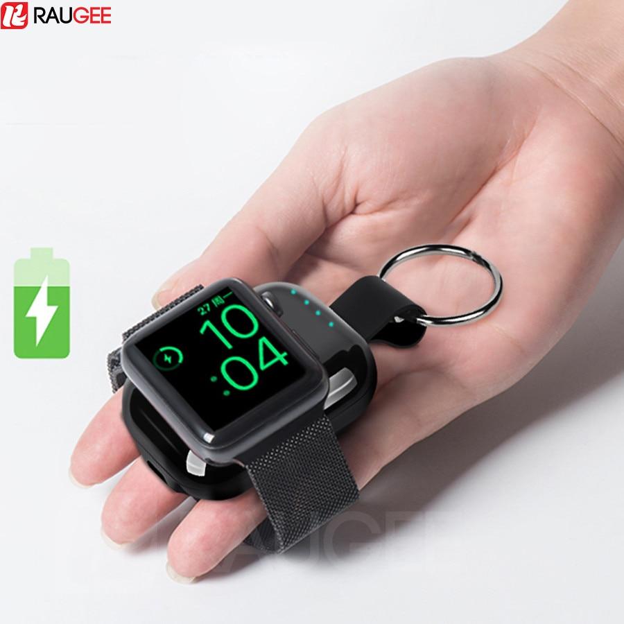 Batterie externe pour Apple Watch 1 2 3 4 chargeur sans fil batterie externe 700mah Portable voyage extérieur QI sans fil banque de charge
