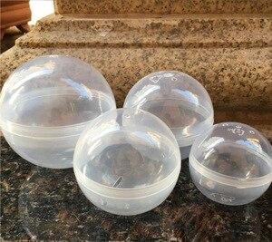Image 3 - 50 יח\חבילה קוטר: 100mm ריק פלסטיק צעצוע כמוסת ביצת מעטפת פלסטיק כדור אוטומטיות מכונת עגול פלסטיק כמוסה