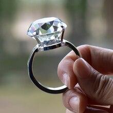 3 см кристалл большое кольцо романтические украшения для свадьбы предложение свадьба реквизит отправить его подруге друзей сувениры подарки на день рождения