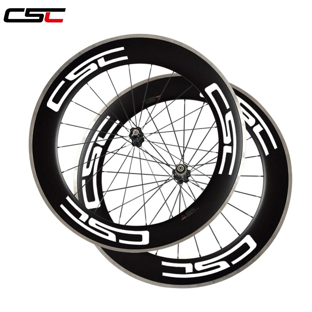 700C 23mm wide 80mm deep clincher carbon bike wheels with Alloy brake track with novatec hub+ sapim cx ray or cn 424 spokes black spokes 20h 24h road bike 700c carbon alloy wheels 38mm clincher with black novatec hubs a291 f482sb
