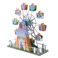 Vintage Musical Ferris Wheel Clockwork Tin Toy Classic Wind up Toys Collectible Gift