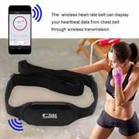 Impermeabile Fascia di Forma Fisica Monitor di Frequenza Cardiaca di Bluetooth Senza Fili di Frequenza Cardiaca di Sport Cintura Eseguire Calorie Fat Calcolo