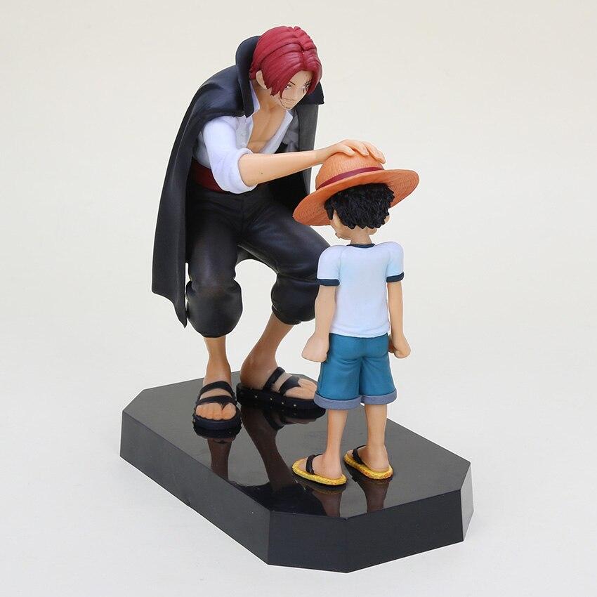 11.5 16 cm Anime Um Pedaço Chapéu de Palha Luffy Shanks red hair Luffy  Figuras de Ação Brinquedos Boneca de Presente de Criança modelos Coleção  Pvc em ... fb0d0127682