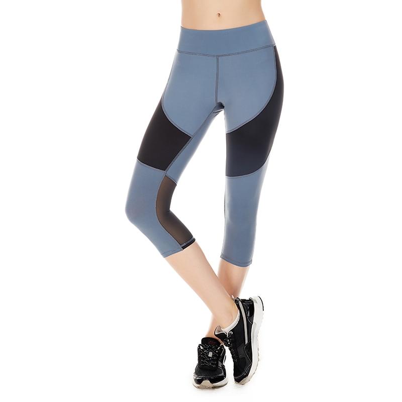 Vansydical Womens yoga pants leggings woman compression tights Jogging Trousers Sports leggings running Pant Female 3/4 Pants
