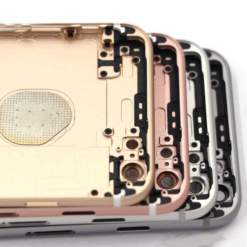 Kim loại Phía Sau Khung Xe dành cho iPhone 6 6 Plus Nhà Ở Pin dành cho 6 6 S 6 S Plus + Nút Bấm + Khay Sim + Miếng Dán + Dụng Cụ + Tùy Chỉnh IMEI-Tôi