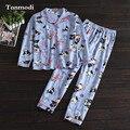 Пижамы Для Женщин Весной И Осенью Хлопка С Длинными Рукавами Анимация собака Пижамы Женщин гостиная Пижамы набор