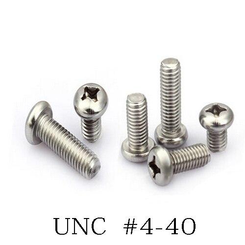 UNC 4 40 Steel pan head screw bolt Length 3 16 1 1 2 inch thread