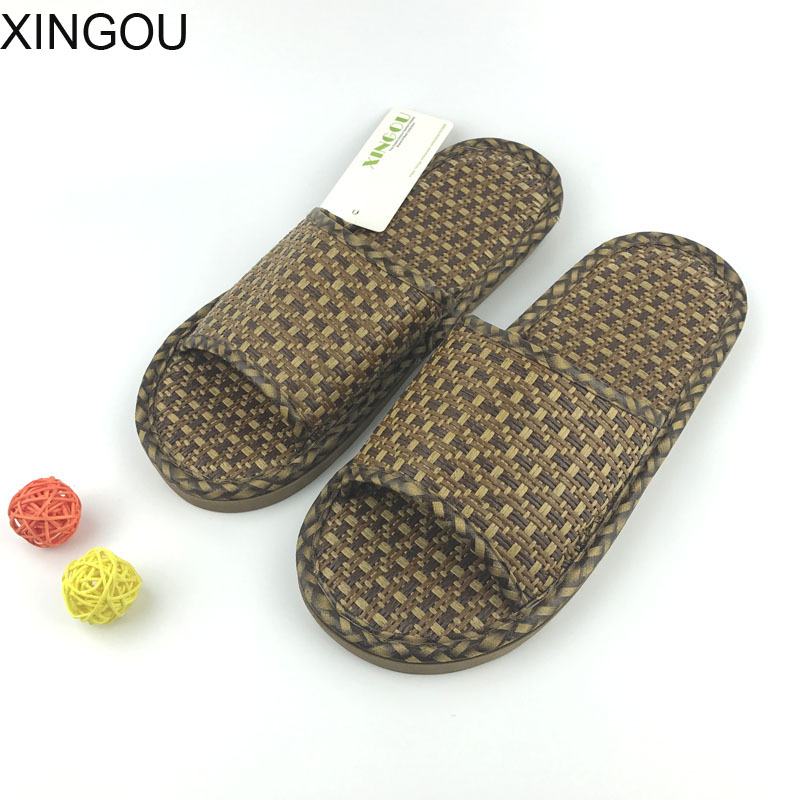 New rattan slippers and slides summer couple Indoor slippers Cane weaving shoes women Healthy and comfortable indoor slippers children parents boys girls cartoon bathroom slippers summer women home slippers lovers slides flat with indoor fashion new