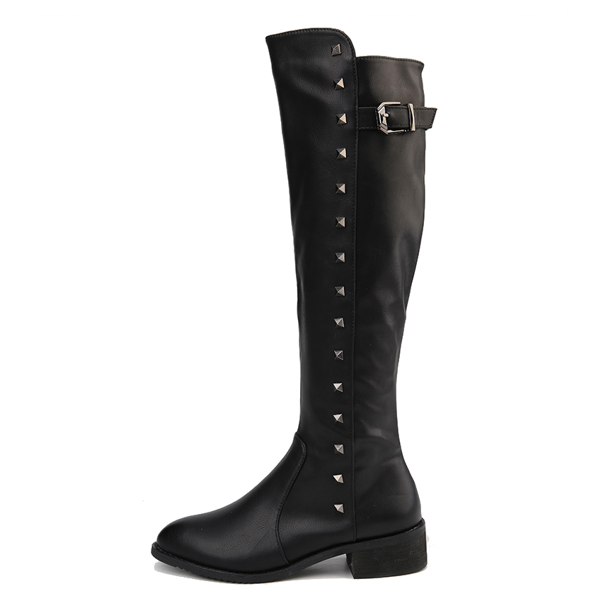 ФОТО 2016 knee-high boots  women autumn and winter shoes for woman comfortable high heels shoe