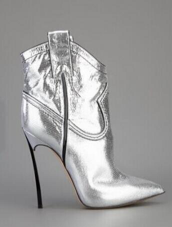Slip En Or Talons Femme Hauts Robe Chaussures Mince Dames sur Shinning Cheville Courtes argent Bout Sestito Pour Super Bottes Cuir 2018 Pointu 4S3qcL5RAj