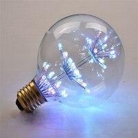 Twórcze Nowa Konstrukcja G80 Żarówka LED RGB E27 AC220V 3 W Diament Gwiazdy W Stylu Vintage Edison Lampy Dekoracyjne dla Sypialnia Salon pokój