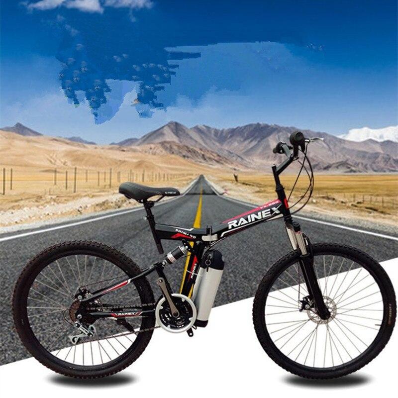 26 дюймов Электрический велосипед 36 В 10,8 Ah литиевая батарея электрический горный велосипед складной велосипед 350 Вт двигателя Максимальная ...