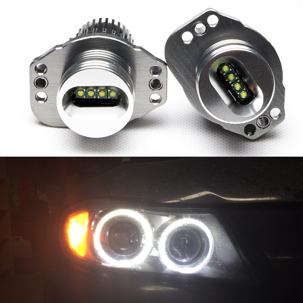 One pair 2*20W 40W CREE chip LED Marker Angel Eyes for B.M.W E90/ E91 Plug and Play 7000K White led Halo bulbs