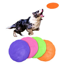Rubber Flying Discs Dog Toys Training Tooth Resistant Fetch Interactive for dogs 4 Color Dropshipping