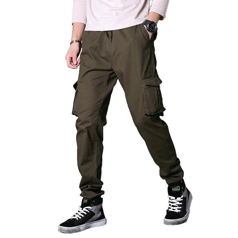Pantaloni noi de primăvară de primăvară de bumbac Pantaloni de - Imbracaminte barbati
