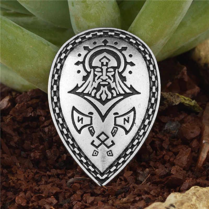 1 Máy tính Norse Viking Hiệp Sĩ Shield Bùa Hộ Mệnh Sowilo Axe Rune Vật Tổ Othala Bùa Hộ Mệnh Runic Mặt Dây Chuyền