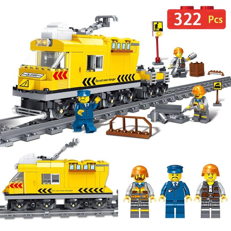Galop Train Série Blocs de Construction Technique Compatible LegoINGLYS Ville Vue Sur La Rue Chiffres TECHNICIEN Briques Jouets Pour Enfants