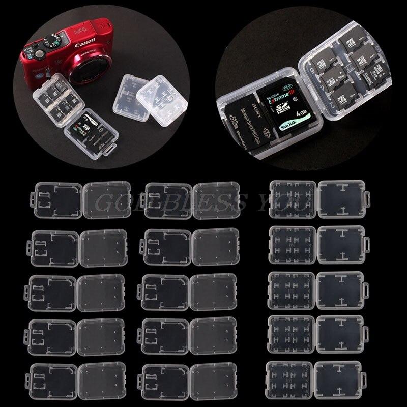 10 Pcs Kunststoff Transparent Standard Sd Sdhc Speicher Karte Fall Halter Box Lagerung Weitere Rabatte üBerraschungen