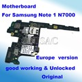 Para samsung galaxy note 1 n7000 placa madre el 100% original versión europa y desbloqueado placa lógica mainboard bien trabajado