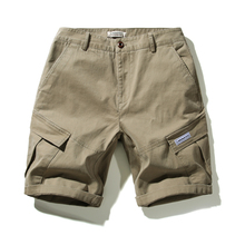 Cargo Shorts Hot Sale 2019 Casual Short For Men Cotton Solid Elastic Waist Summer Comfortable 1PCS Pockets JF