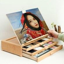 Мольберт Трехслойная картина деревянная подставка масляная акварель