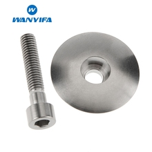 Wanyifa M6X35mm Stigma Titanium Bolt Screw+Titanium Alloy Top Cover for Bicycle Brake Bike Part