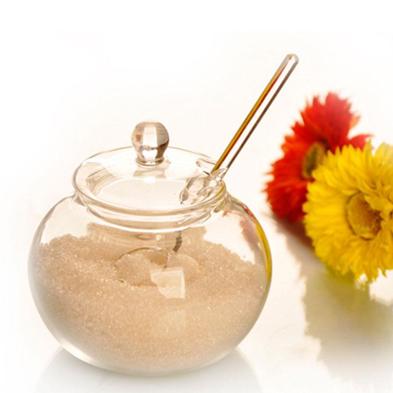 SOLEDI Бытовая стеклянная банка 250 мл, конфеты, специи, бытовая сахарница, сахарница, прозрачная Хрустальная зеркальная чаша, сахарный лук