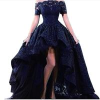 Plus Size New Arrival A Line Emerald Green Black Red Royal Blue Prom Dresses Short O