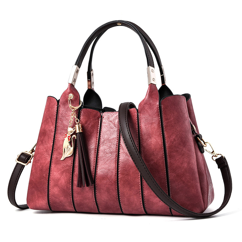 2018 New Arrival Women Bag Classic Fashion Elegant Office Lady Handbags Solid Color Green Wine Red Grey Crossbody Totes esspero classic white red grey