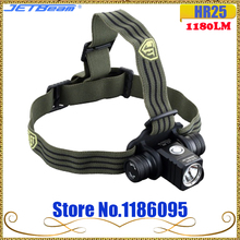 JETBEAM HR25 luz frontal para exteriores, CREE SST40 N4 BC, LED, 2017 lúmenes, batería 1180 + Cable de carga USB, novedad de 18650