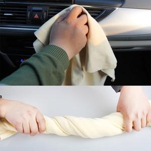 Image 2 - 60*90cm toalhas de lavagem de carro couro camurça natural pano de limpeza de carro super absorvente rápida toalha seca para carros móveis de casa