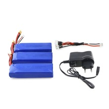 3Pcs Upgraded 7.4V 2300mAh 2S 35C Li-po Rechargeable Battery with XT30 Plug Charger for MJX Bugs 6 B6 RC Drone Quadcopte