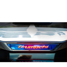 Lsrtw2017 Carbon Fiber Abs Car Rear Brake Light Sticker for Trumpchi Gs3 2017 2018 2019 2020