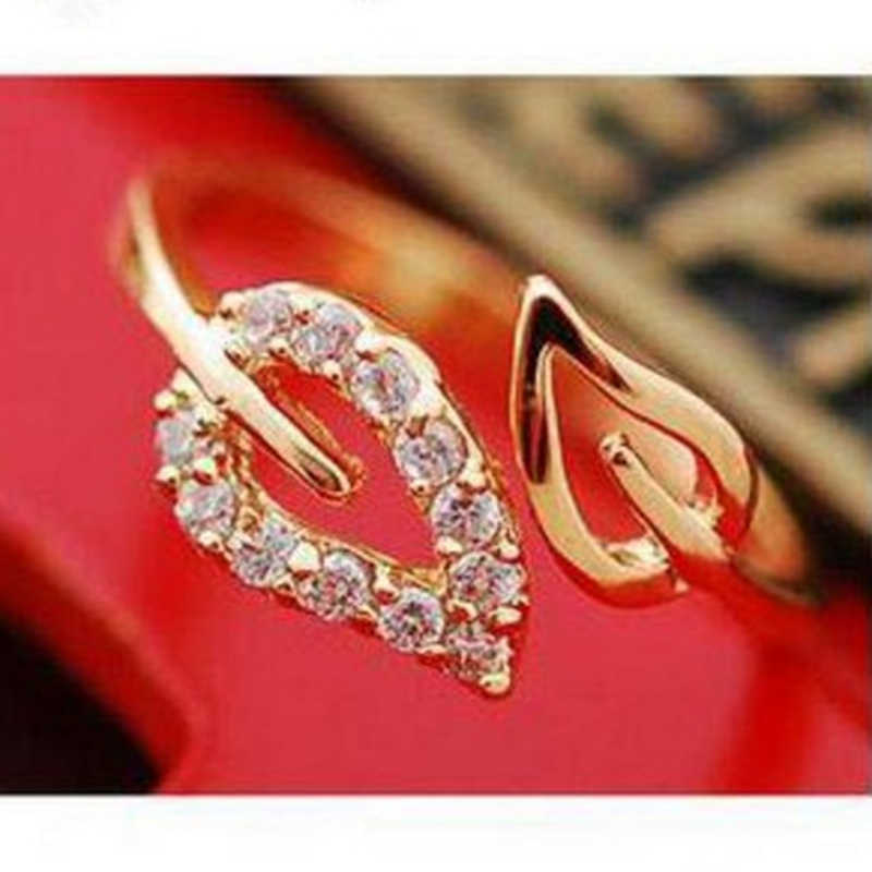 2019 new (or) two anti - Drilling retro leaves - Korean female couple rings  jewelry gifts wholesale