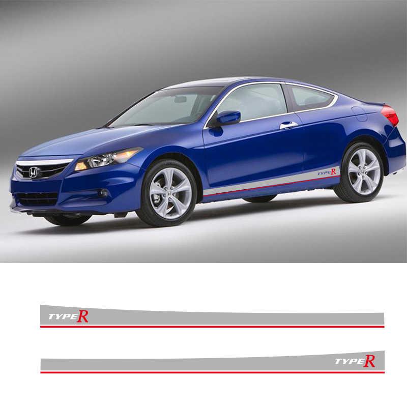 2 PCS RAV4 Araba Yan Çizgili Yan Etekler Grafik vinil yapışkan Çıkartmaları Yarış Spor Araba Çıkartmaları Toyota RAV4 Için