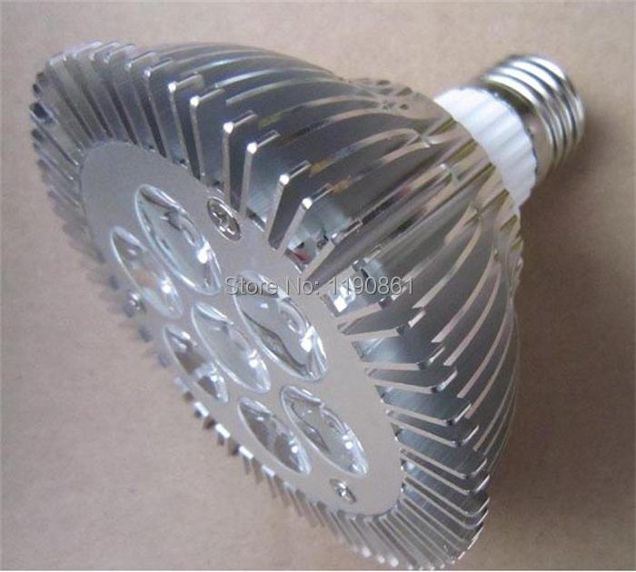 2014 Hot sell par30 e27 7x2w led spotlight bulb lamp dimmable white warm white 110-220v free shipping