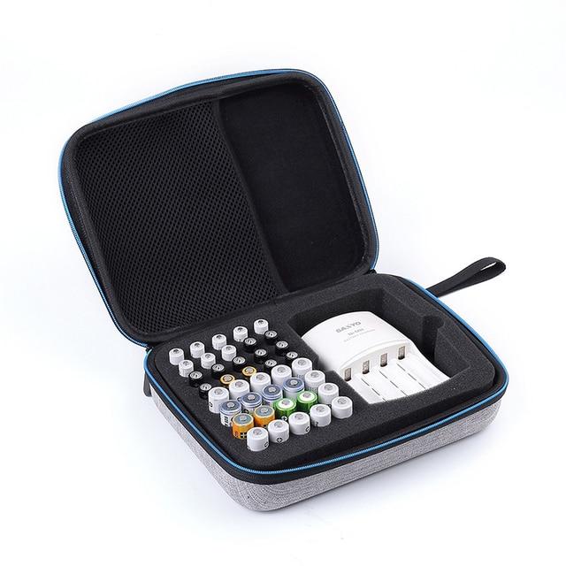 1 шт., чехол держатель для аккумулятора aaa aa, аккумуляторная батарея EVA, коробка для хранения аккумуляторов, сумка Органайзер для 40 шт., диапазон aa aaa