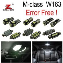 16 шт. светодиодный зеркальная лампа+ багажник лампа+ укрыты внутренной сводной чтениt дорожной карты свет комплект для Mercedes Benz ML класса W163(1998-2005