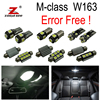 12pc X Canbus No Error LED Interior Light Kit Package License Plate For Mercedes Benz M