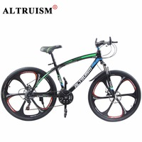 Altruism Q1 Bicycle 26 Inch 21 Speed Mountain Bike Steel Double Disc Brake Road Bikes For