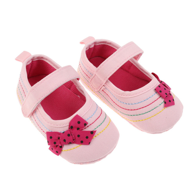 Baby Girl Shoes Denim Bowknot Baby Shoes Prewalker Walking Toddler Kids Shoes Soft Sole First Walkers 1
