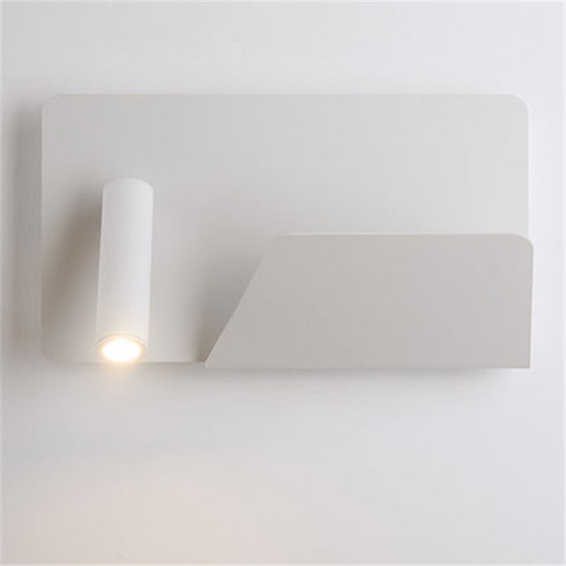 Simple Creative Adjust Modern LED Wall Light Fixtures Rotating Bedside Wall Lamp Switch USB Charging Wall Sconce Home Lighting simple creative adjust modern led wall light fixtures rotating bedside wall lamp switch usb charging wall sconce home lighting