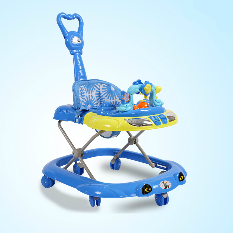 цена на 2016 New Baby Walker Car Anti-roll over Multifunctional Baby Stroller Music Toys Plate Baby Walk Learning Car Folding Walker C01