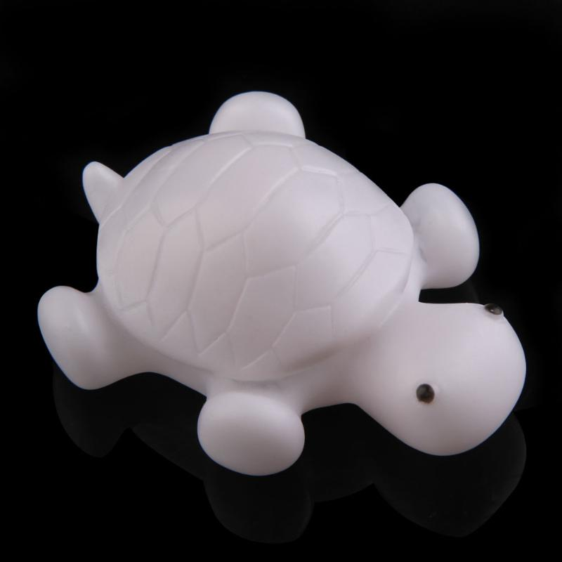 1 шт. Черепаха светодиодный 7 цветов ночь свет лампы вечерние праздничные украшения дома Красочные мигающий свет игрушка подарок для ребенк...