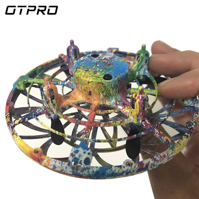 Анти-столкновения ручной НЛО мяч летающий самолет RC игрушки светодиодная подвеска мини индукционный Дрон подарок для детей мальчиков падение Квадрокоптер