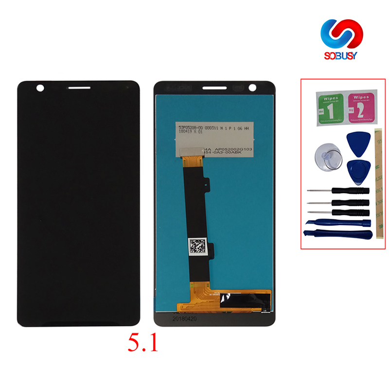 For Nokia 5 LCD Display Touch Screen <font><b>TA</b></font> 1109 1024 1027 1044 <font><b>1053</b></font> 1008 1030 1075 For Nokia 5.1 LCD 5.1 Plus Screen Replacement image