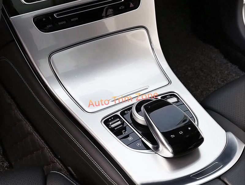 2*ABS Matte Gearshift Shifter Panel Cover Trim For