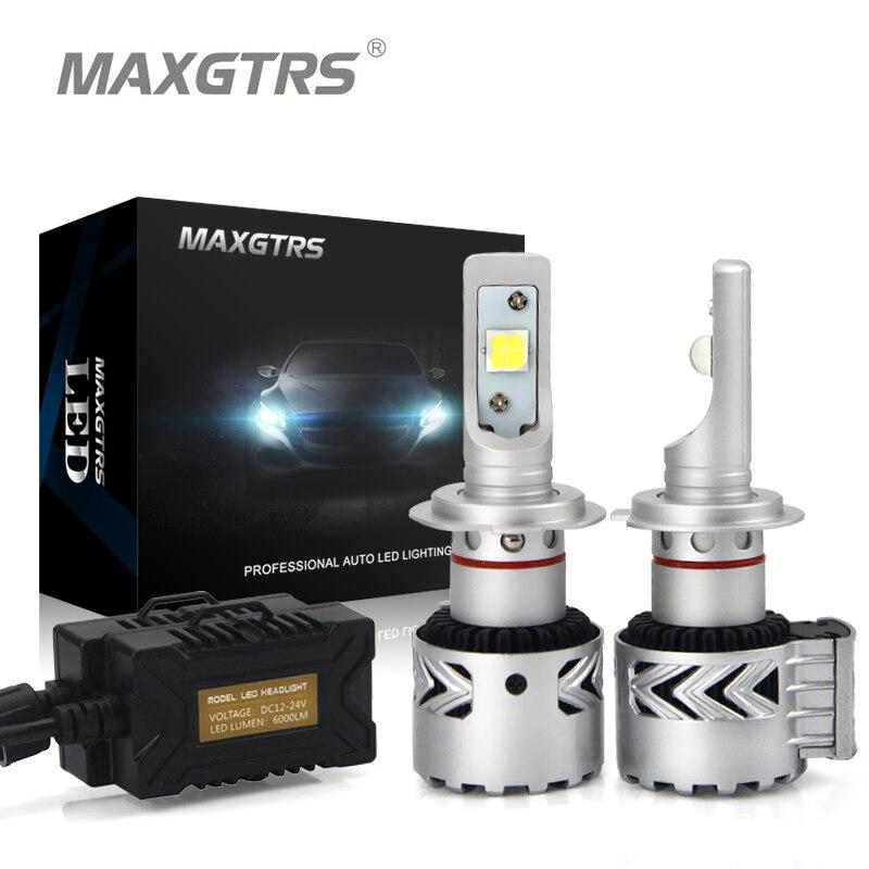 2X Последние с чипом cree XHP70 LED H7 H8 H11 9012 9005 HB3 9006 HB4 D1C D1R D1S D3R D3S d2 D4 автомобилей светодиодные фары квадратный лампы