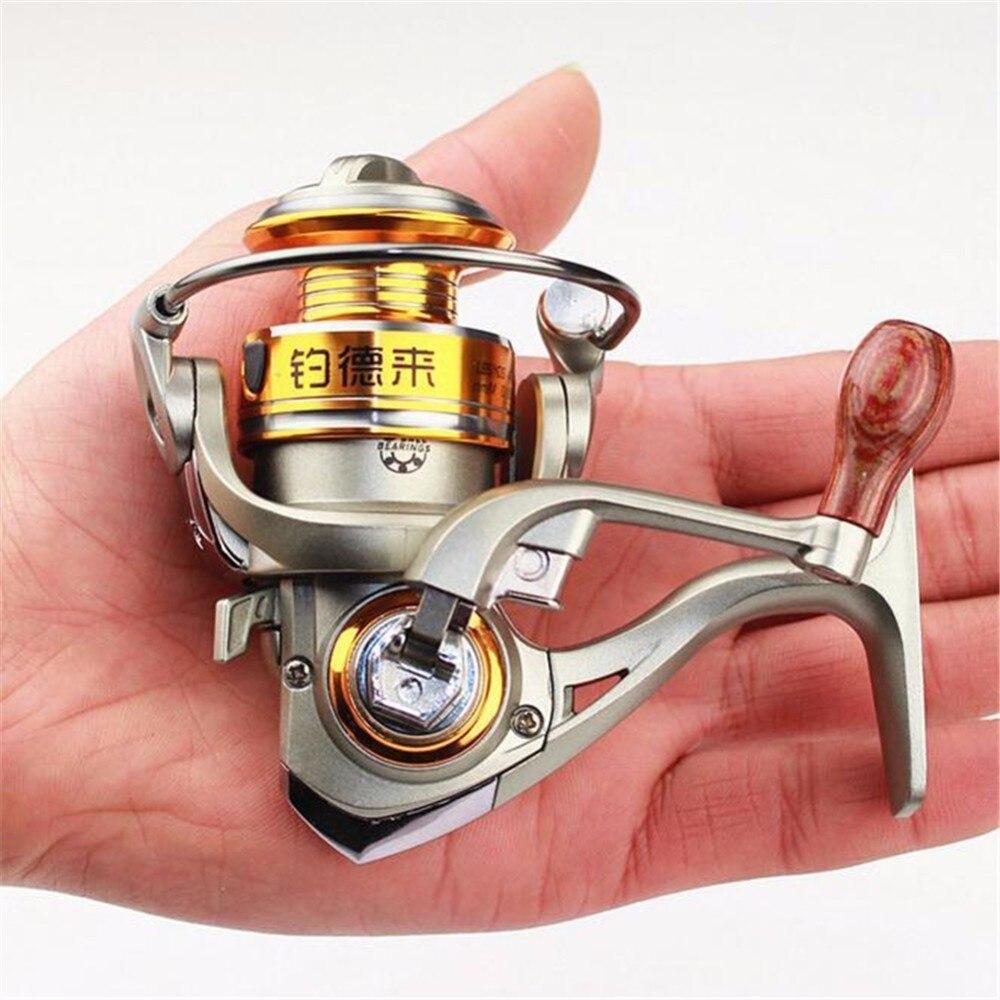 FDDL DF150 Mini Spinning Angelrolle 5BB 5,2: 1 Ultra-light hochfesten Palm Größe Angelrolle