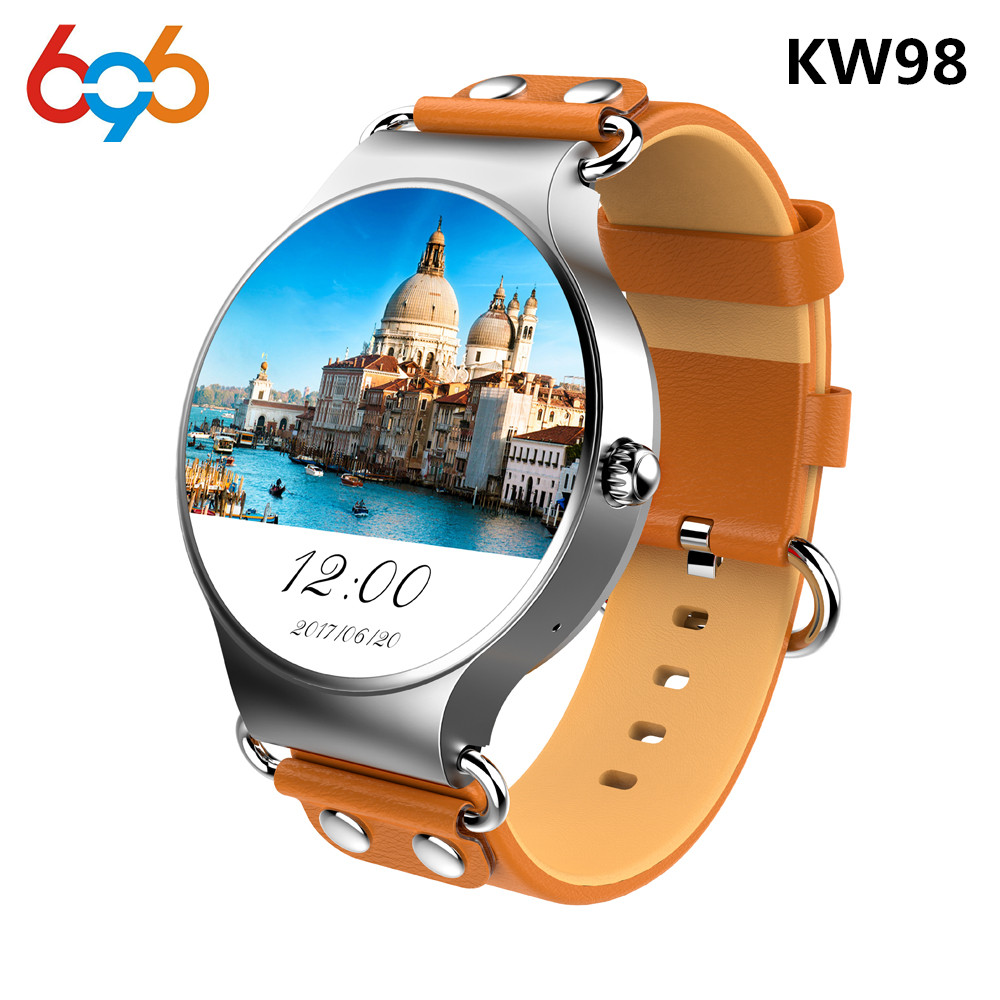 Date KW98 montre intelligente Android 5.1 3G WIFI GPS montre MTK6580 Smartwatch iOS Android pour Samsung Gear S3 PK KW88